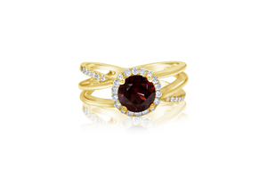 Round Garnet with melee halo