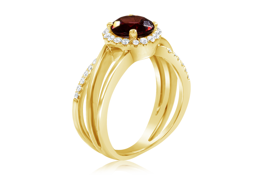 Garnet Fashion Ring