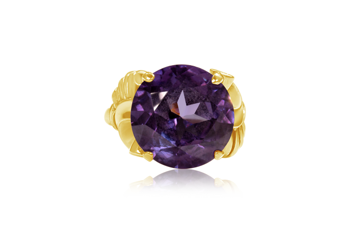 Amethyst Vintage Fashion Ring