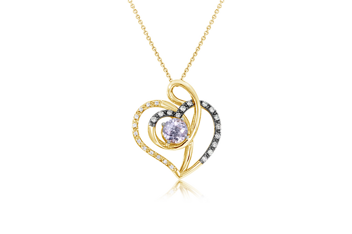 LeVian Amethyst Heart Necklace and Pendant