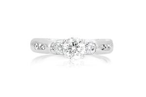 3-Stone Round Diamond Engagement Ring