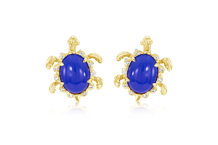 Hammerman Brothers Chalcedony Turtle Earrings