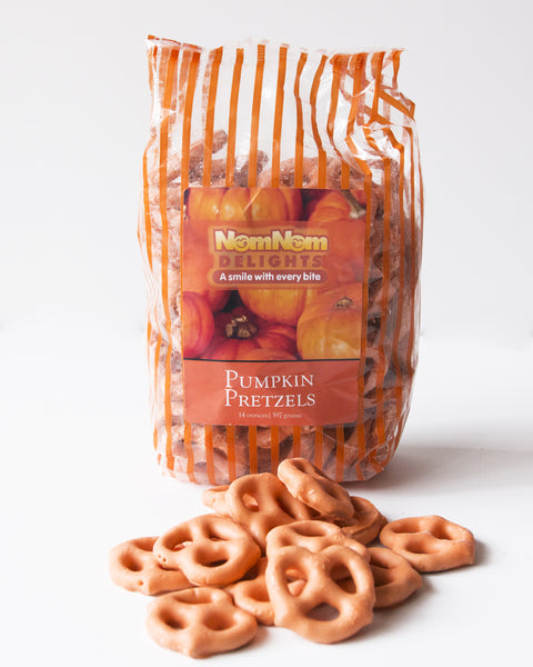 Pumpkin Spice Chocolate Covered Pretzels (2 Pack)