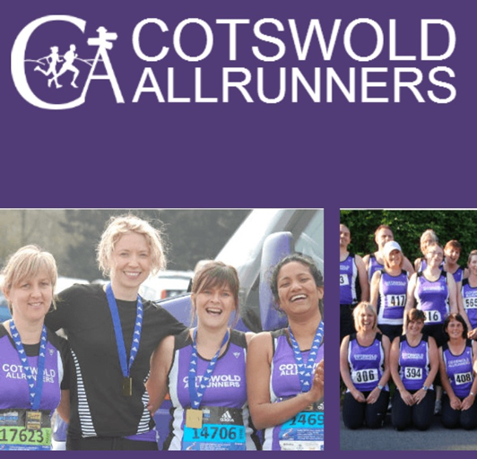 Cotswold Allrunners Runners proudly wearing VIGA running vests.
