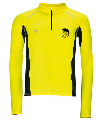 Male Eagle AC  L/S Zip Neck Running Top