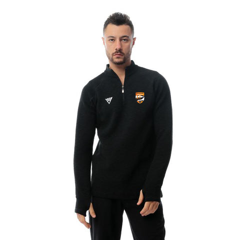 Watergrasshill Mens Quarter Zip Top-Black