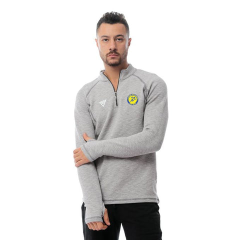 Danum Harriers Male Quarter Plain Zipper Shirt-Grey