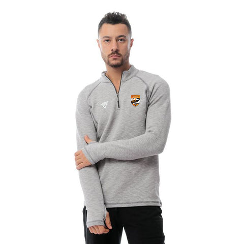 Watergrasshill Mens Quarter Zip Top-Grey