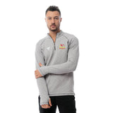 Dunoon Hill Runners Male Quarter Plain Zipper Shirt-Grey