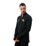 Watergrasshill Male Quarter Plain Zipper Shirt-Black