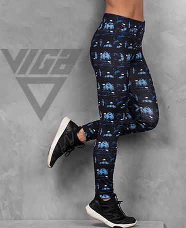 VIGA Ladies Blue Maze Leggings
