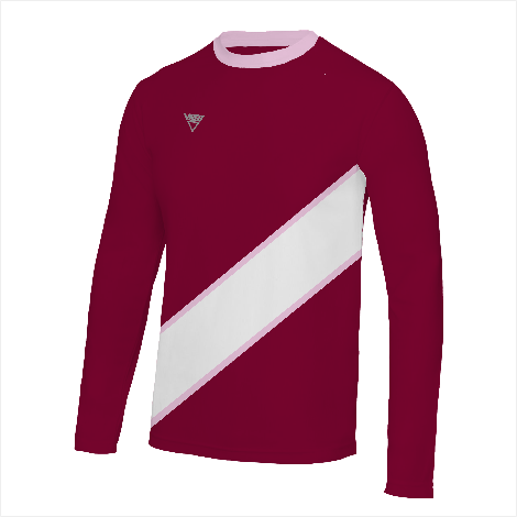 Bordered Diagonal Banner Long Sleeve T-Shirt