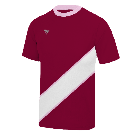 Bordered Diagonal Banner T-Shirt
