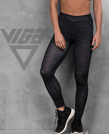 VIGA Ladies Charcoal Static Leggings