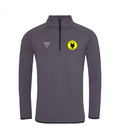 Alf Tupper Harriers Zip Neck Sweatshirt