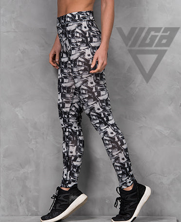 VIGA Ladies Crackle Black Leggings