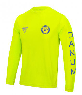 Danum Harriers Electric Yellow Long Sleeve T-shirt (Male & Female Sizes)