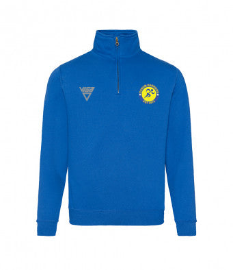 Danum Harriers Zip Neck Sweat Shirt