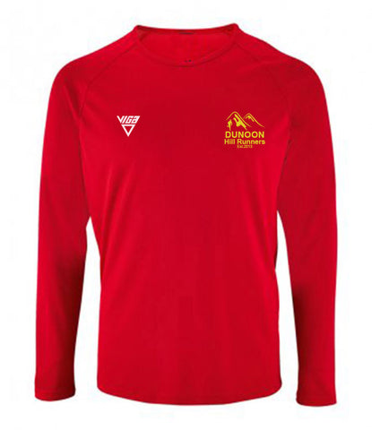 Dunoon Hill Runners Mens/Ladies Long Sleeve Wicking T-Shirt