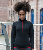 Ladies Performance Half Zip Sweat Top