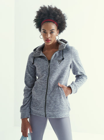 Ladies Hooded Fleece Jacket