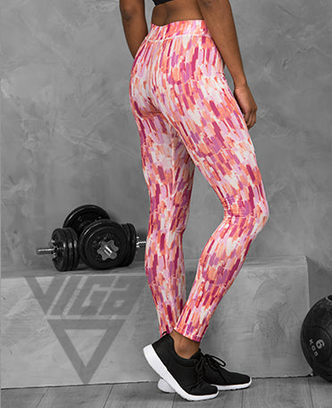 VIGA Ladies Pastel Print Leggings