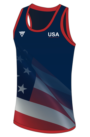 USA Running Vest Mens & Ladies Sizes