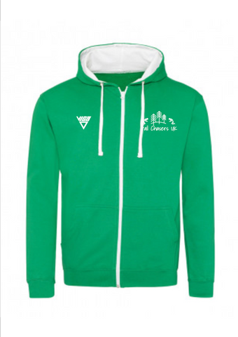 Trail Chasers UK Contrast Zipped Hoodie (Unisex)