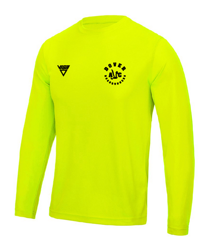 Dover Road Runners Long Sleeve T-Shirt Flo Yellow (Male & Female sizes)