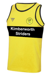 Kimberworth Striders Running Club Bespoke Mens Vest with Contrast Chestband