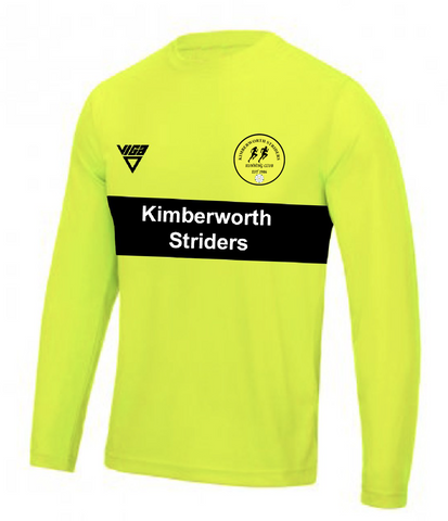 Kimberworth Striders Running Club Bespoke Long Sleeve T-shirt with Contrast Chestband (Male & Female Sizes)