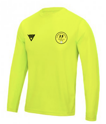 Kimberworth Striders Running Club Electric Yellow Long Sleeve T-shirt (Male & Female Sizes)