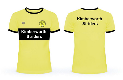 Kimberworth Striders Running Club Bespoke T-Shirt with Contrast Chestband (Male & Female sizes)