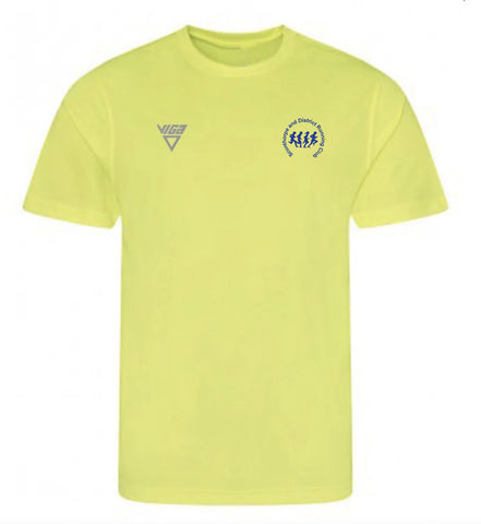 Scunthorpe and District AC T-Shirt (Yellow) Male & Female Sizes also *Junior sizes*