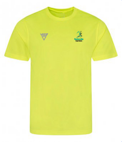 Huncote Harriers T-Shirt (Yellow) Male & Female Sizes