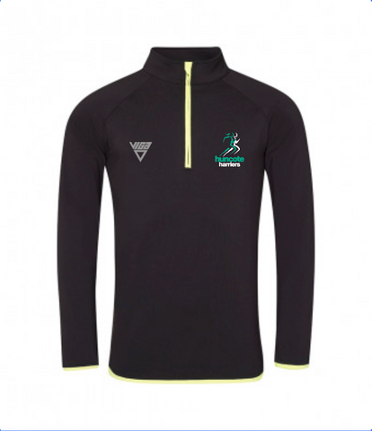 Huncote Harriers Half Zip Sweat Top (Male & Female Sizes)