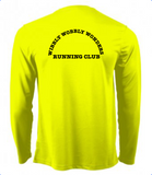 Wibbly Wobbly Wonders Running Cub Flo Yellow Long Sleeve T-Shirt (Male & Female)