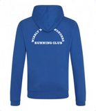 Wibbly Wobbly Wonders Running Club Contrast Zipped Hoodie (Unisex)