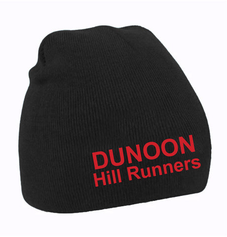 Dunoon Hill Runners Black Beanie