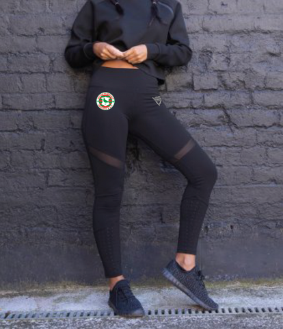 Sutton in Ashfield Harriers Ladies Panelled Leggings