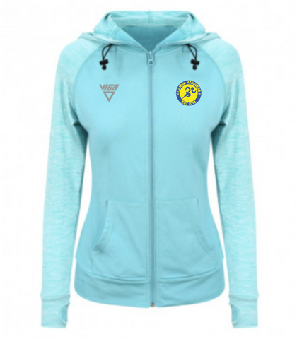 Danum Harriers AC Ladies Cool Contrast Hoodie (Ocean blue)