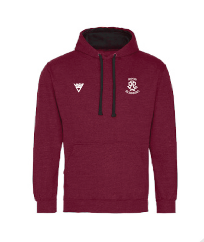 Ripon Runners Maroon/Grey Hoodie (Unisex and Junior sizes)