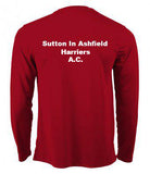 Sutton-in-Ashfield Harriers & A.C. Mens & Ladies Long Sleeve T-Shirt