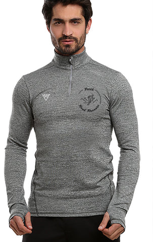 Perth Road Runners Long Sleeve Zip Neck Performance Top
