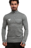 Lancaster Race Series  Mens Long Sleeve Zip Neck Performance Top