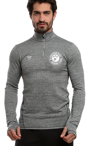 Invicta East Kent AC Mens Long Sleeve Zip Neck Performance Top
