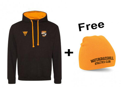 "Watergrasshill Athletics Club Contrast Hoodie ""WEEKEND OFFER""(Unisex & Junior Sizes)"