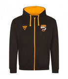 Watergrasshill Athletics Club Contrast Zipped Hoodie (Unisex)