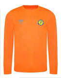 Danum Harriers Mens Electric Orange Long Sleeve T-Shirt