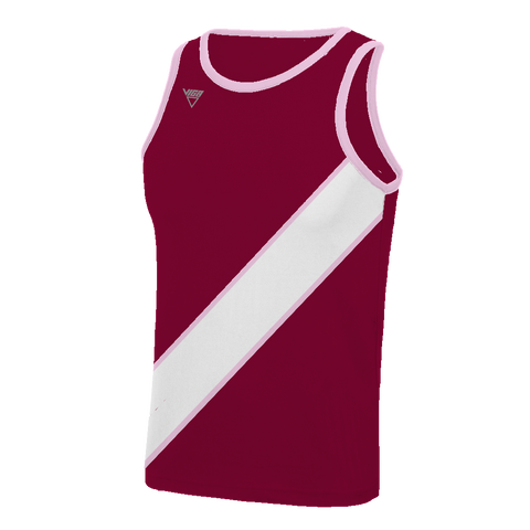 Bordered Diagonal Banner Vest